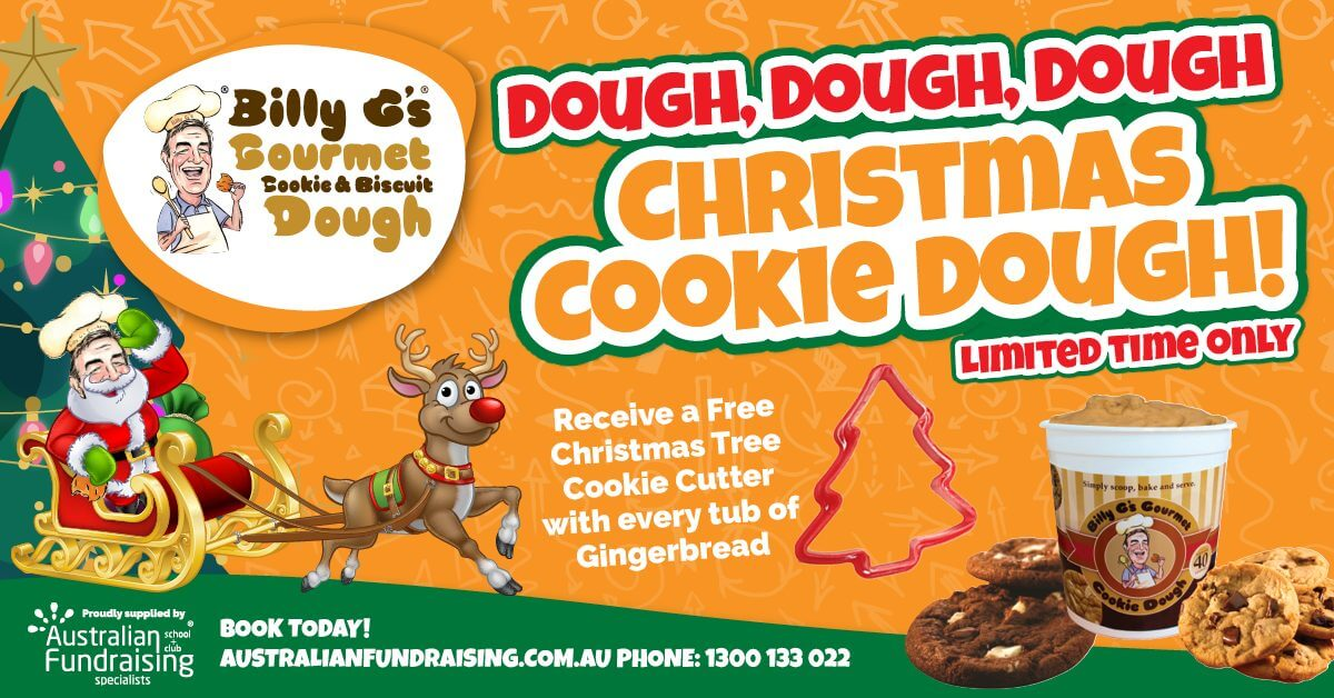 Fundraise with Billy G's Christmas Cookie Dough Fundraiser!