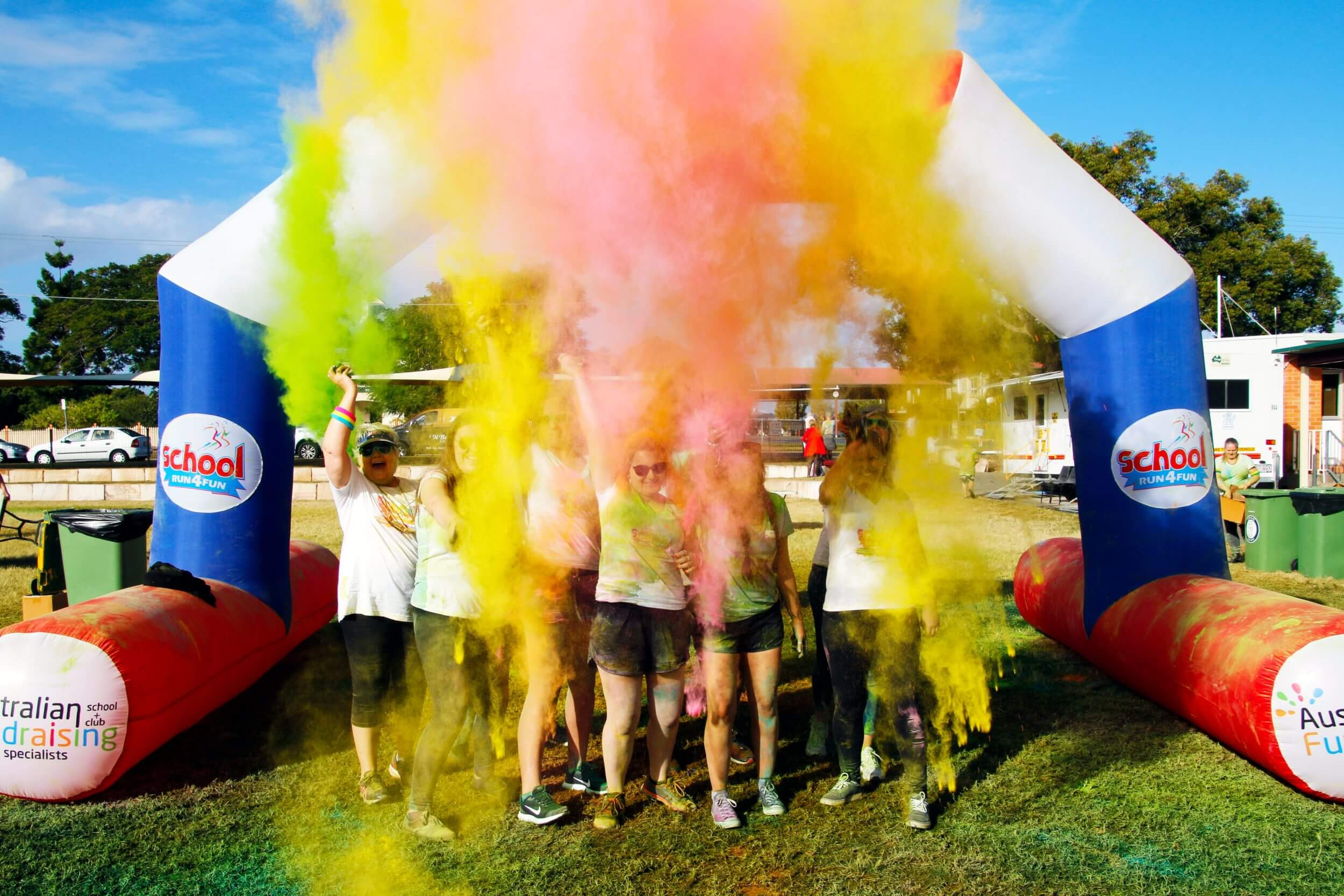 Host a Colour Explosion School Fun Run with Australian Fundraising.