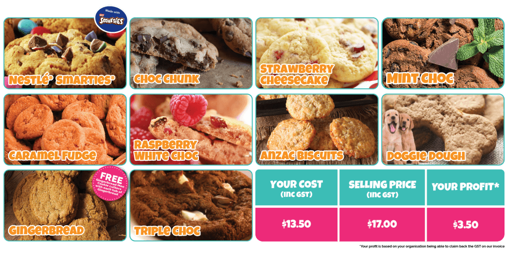 Discover our delicious cookie flavours!
