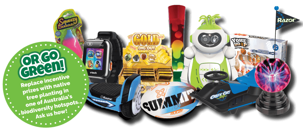 Incentive Prizes are included in your Slime Fun Run fundraising kit!