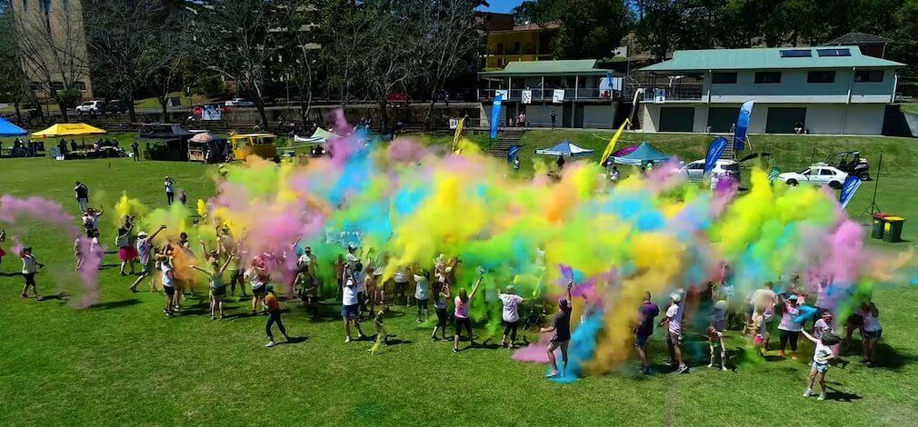 The brightest day at school with a Colour Explosion Finale!