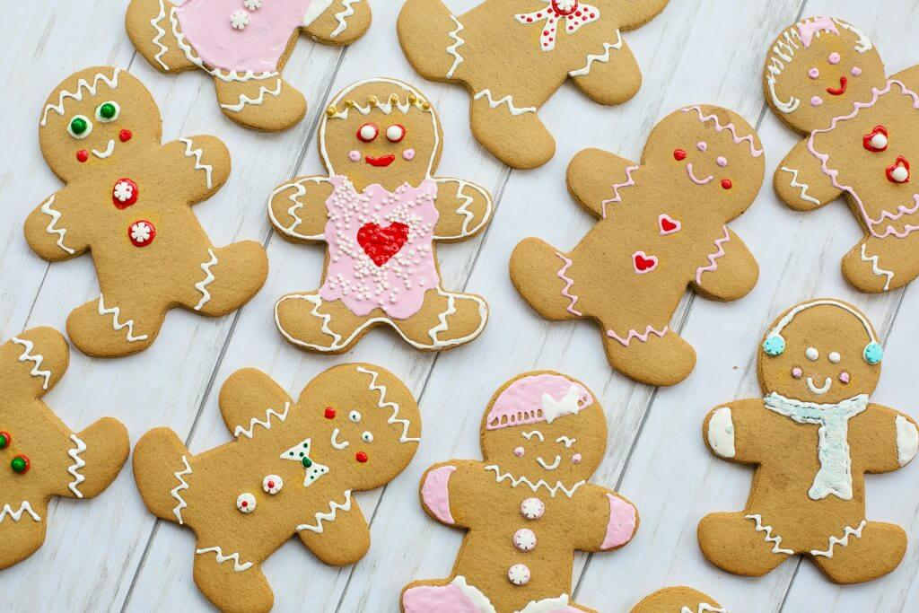 Gingerbread people are a fun way to keep kids entertained during school holidays.